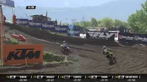 motocross race van mxgp of trentino wmx race 2 fontanesi van de ven battle and kiara