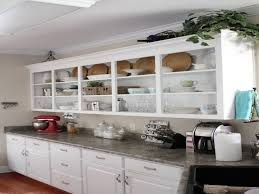 Kitchen Cabinets Open Shelving Modren White Kitchen Cabinet Open Cabinets Subway Tile And Walls