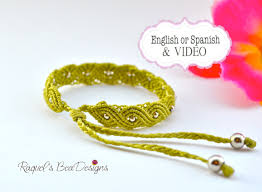 macrame bracelet tutorials images Tutorial green micro macrame bracelet on luulla JPG