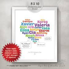 kindergarten graduation gifts 8x10 kindergarten appreciation print kindergarten