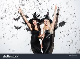 two happy young women black witch stock photo 480074791 shutterstock