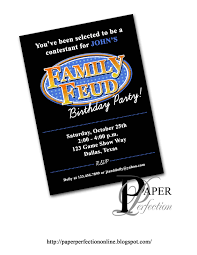 Family Feud Name Tag Template Paper Perfection Family Feud Birthday Invitation