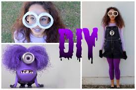 diy purple minion costume makeup u0026 hair howtobyjordan youtube