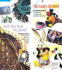 Six Flags America Map by Theme Park Brochures Six Flags America Theme Park Brochures