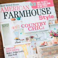 american farmhouse style magazine feature
