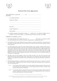 interest free loan agreement template download resumes in word