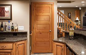 Kitchen Interior Doors Flat Wood Panel Doors Woodport Doors