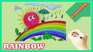 rainbow coloring pages how to color rainbow and learn colour youtube
