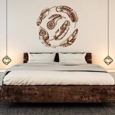 Vinyl Wall Decals For Bedroom Feather Wall Decal Vinyl Sticker Dream Catcher Tribal Decor