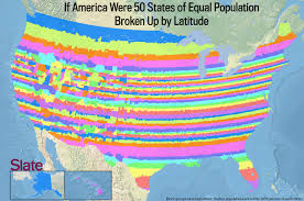 Physical Map Of The United States by If Every U S State Had The Same Population What Would The Map Of