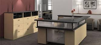 Reception Station Desk Zira Series U Shaped Reception Desk With File Cabinets