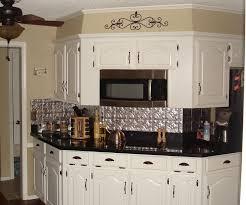 Tin Kitchen Backsplash Kitchen Contemporary Small Kitchen Decoration With Silver Black