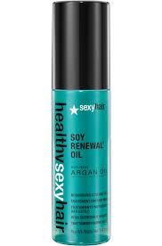 healthy hair soy renewal argan oil hair styling