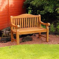 Heavy Duty Garden Bench Kingfisher Ornately Curved Teak Bench Outdoor Patio Heavy Duty