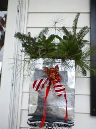 recycled christmas gift bag porch decoration christmas crafts