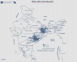 South India Map by India Maoist Conflict Map 2015 South Asia Terrorism Portal