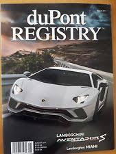dupont registry dupont registry august 2017 lamborghini ebay