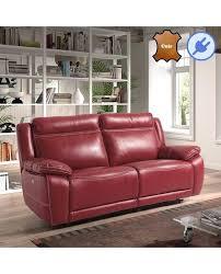canape cuir vachette canape cuir relax electrique 3 places canapac relax electrique 3