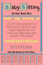 best 25 babysitting flyers ideas on pinterest babysitting