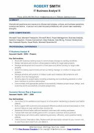 business analyst resume word exles for the root chron it business analyst resume sles qwikresume