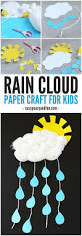 rain cloud paper craft with a paper plate sun rain clouds