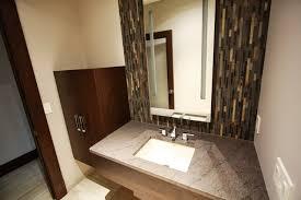 Glass Tile Backsplash Modern Bathroom Cleveland By Gallery - Tile backsplash bathroom