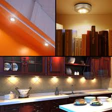 kitchen under cabinet lighting led le under cabinet lighting 3 led puck light bulb battery powered