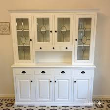furniture home large distressed china cabinet white kitchen