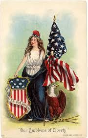 Vintage Flag Art Vintage Lady Liberty Clip Art The Graphics Fairy