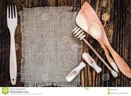 Wooden Table Texture Vector Cooking Utensils Kitchen Table Wooden Texture With Copy Space