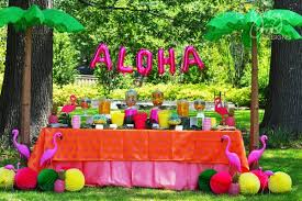greygrey designs aloha high luau themed graduation party