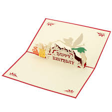 aliexpress com buy new 3d handmade pop up folding birthday card