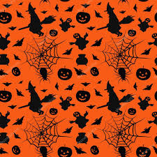 halloween seamless background halloween card seamless pattern background u2014 stock vector