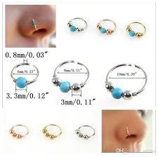 nose rings ball images 2017 new turquoise bead nose hoop nose ring lip rings ear bone jpg