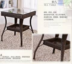 freeshipping pe rattan tea table set outdoor tables chairs 2chairs
