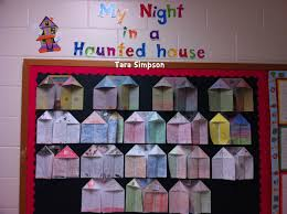 my night in a haunted house halloween writing bulletin board