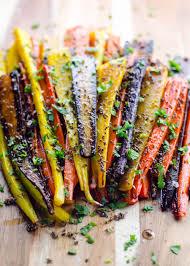 rainbow roasted carrots recipe with mustard and cumin seeds umami