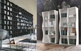 iron ic metal bookcase lends strong contemporary mood to any