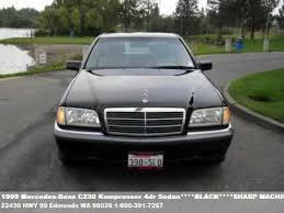 1999 black mercedes 1999 mercedes c230 kompressor 4dr sedan black sha