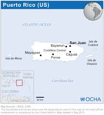 Puerto Rico On Map by Puerto Rico The United States Of America Reliefweb