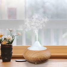 140ml aromatherapy essential oil diffuser wood grain ultrasonic