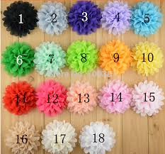 Flower Wholesale Free Shipping 50pcs 18 Colors Wholesale Cheap Beaded Fabric