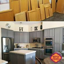 sanding cabinets for painting painting laminate cabinets before and after kitchen cabinet paint