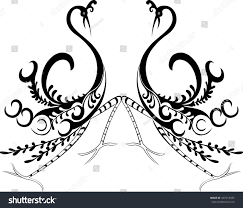ornamental birds design stock vector 407513035