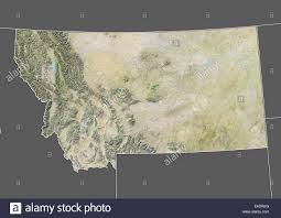 State Map Of Montana by State Of Montana United States Relief Map Stock Photo Royalty