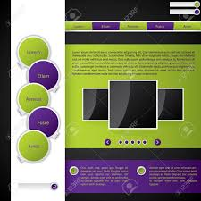 color combination for green website template with purple and green color combination royalty