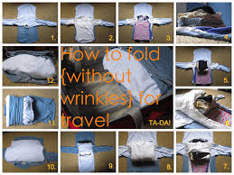 Best way to fold shirts for travel