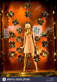 womens fashion designer luxury boutique illuminated window display
