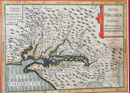 Virginia Colony Map by Hand Colored Dutch Map Of Colonial Virginia C 1630 Worthington