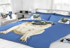 Zebra Print Single Duvet Set Pug Dog Puppy Cute Quilt Duvet Cover Bedding Bedset Pillowcase 3